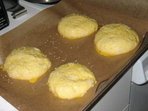 The buns, right before they went in the oven.